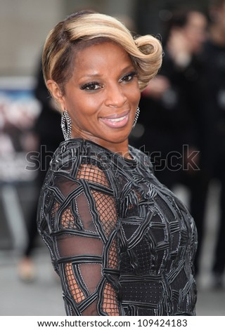 Mary J Blige arriving for the Rock Of Ages Premiere, Odeon Leicester Square, London. 10/06/2012 Picture by: Alexandra Glen / Featureflash - stock photo