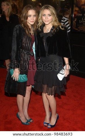 MARY-KATE (left) & ASHLEY OLSEN at the Los Angeles premiere of The Last Samurai. December 1, 2003  Paul Smith / Featureflash - stock photo