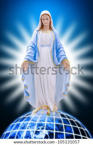 Mary on earth : Elements of this image furnished by NASA - stock photo
