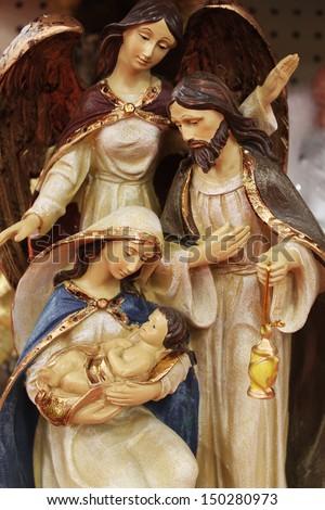 Mary with baby Jesus - stock photo
