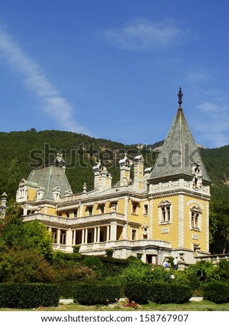 Masandra Palace, Crimea peninsula, Ukraine - stock photo