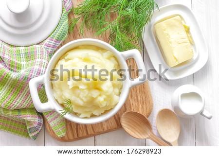 Mashed potatoes - stock photo