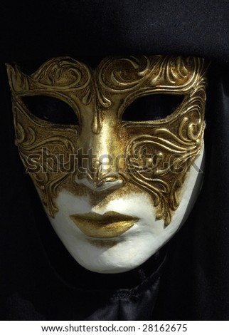 mask at Venice, vertical picture - stock photo