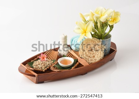 Mask with sunflower seeds and honey for skin health.  - stock photo