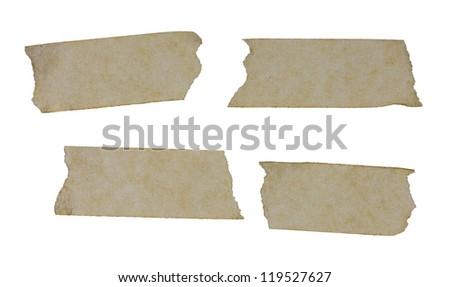 masking tape close up isolated on white - stock photo