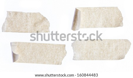 masking tape close up isolated on white - stock photo