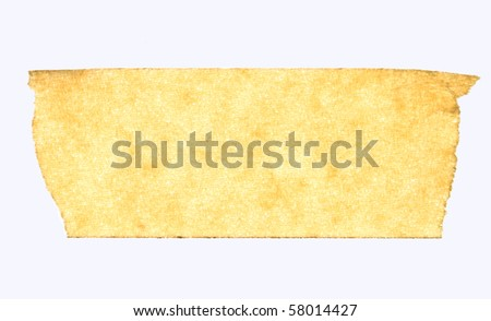 masking tape close up isolated on white macro - stock photo