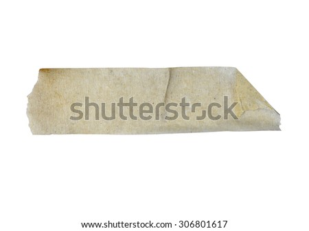 masking tape sticky isolate on white (clipping path) - stock photo