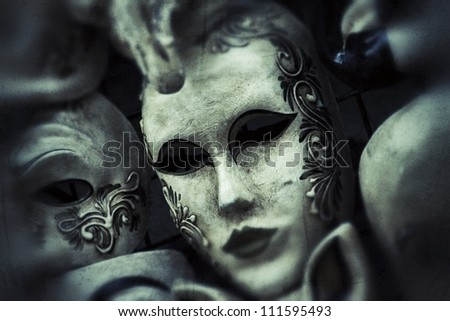 Masks, Venice, Italy - stock photo