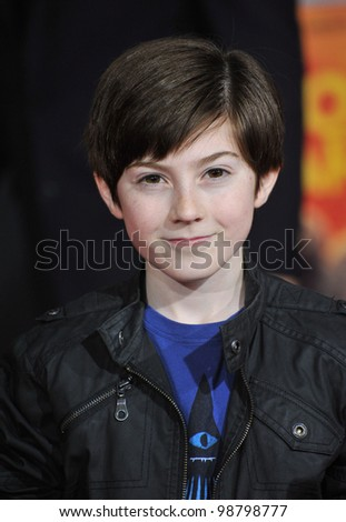 "Mason Cook at the world premiere of ""John Carter"" at the Regal Cinemas L.A. Live. February 22, 2012  Los Angeles, CA Picture: Paul Smith / Featureflash - stock photo"