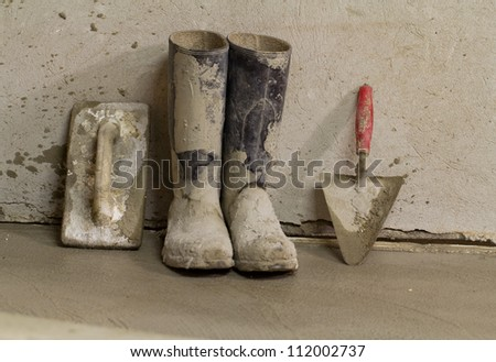 mason tools - stock photo