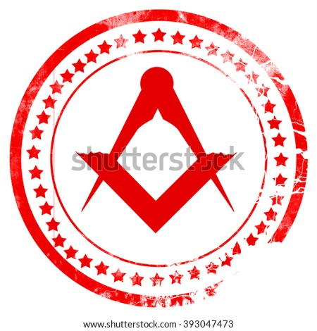 Masonic freemasonry symbol - stock photo