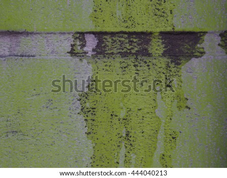 Masonry walls with clay stains - stock photo