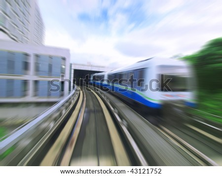 Mass rapid transit - stock photo
