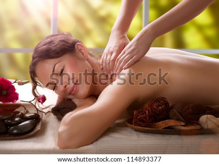 Massage.Spa Salon - stock photo
