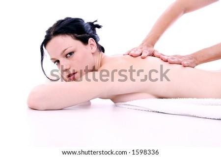 massage treatment - stock photo
