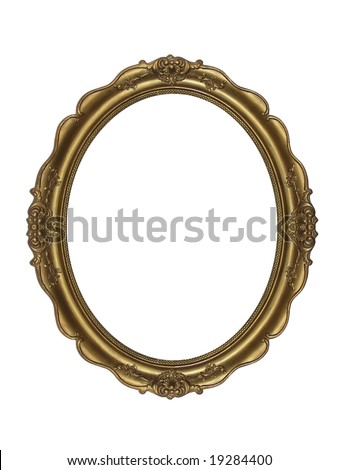 massive old stylistic frame - stock photo