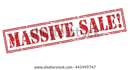 massive sale! stamp - stock photo