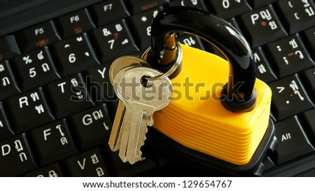 Master Key on Computer Keyboard. - stock photo