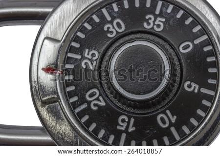 Master lock combination padlock, padlock with dial - stock photo