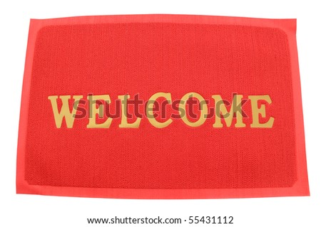 Mat doormat welcome mat - stock photo