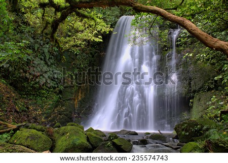 Matai Falls, Catlins, South Island, New Zealand - stock photo