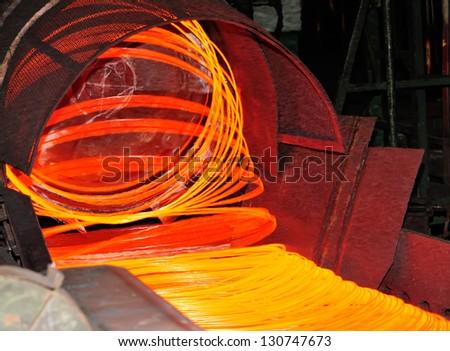 matallurgic production - stock photo