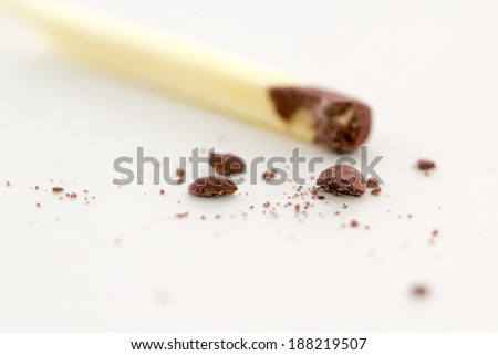 Match isolated on white background with smashed head screw - stock photo