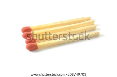 match on white background - stock photo