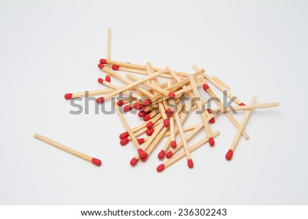 Match on white background - stock photo