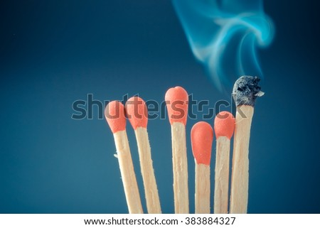 match with filter effect retro vintage style - stock photo