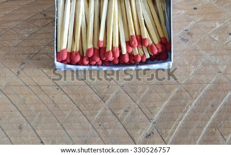 matchstick in paper box - stock photo