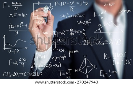 Math, classroom, university. - stock photo