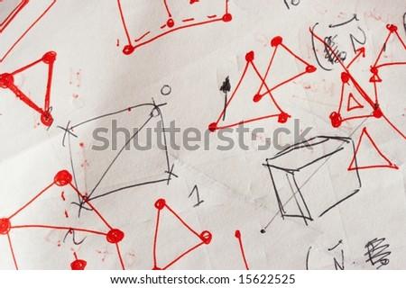 Math draft - stock photo