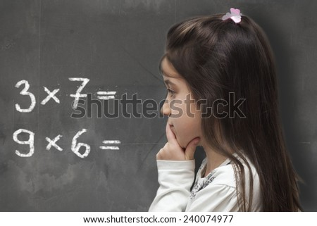 mathematical thinking in the school - stock photo