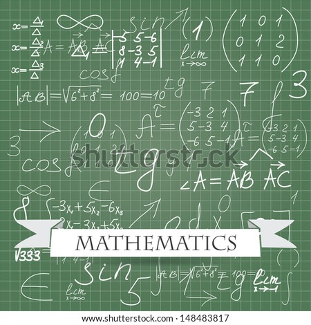 mathematics.  background (vector version also available in my gallery) - stock photo