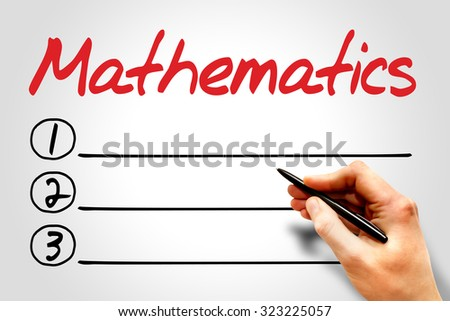 Mathematics blank list, education concept - stock photo