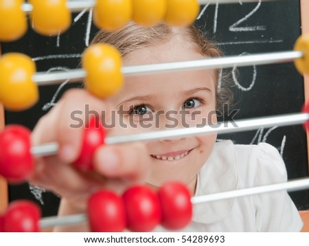 Mathematics lesson - stock photo