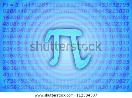 mathematics number : Pi for education background - stock photo