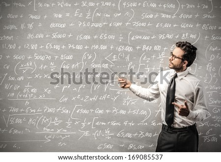Maths and Business - stock photo