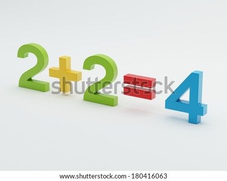 Maths Numbers isolated on white background - stock photo