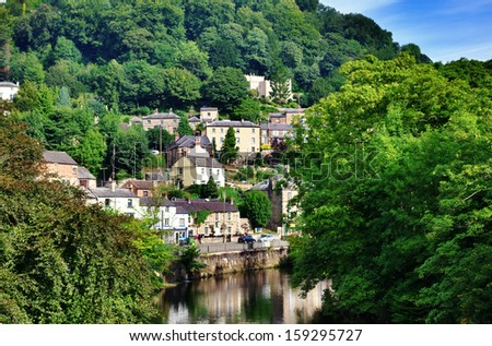 Matlock Bath in Derbyshire - stock photo