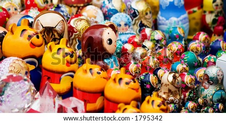 Matreshka Flash Mob - stock photo