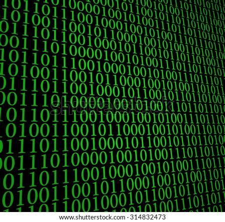 Matrix, 0 1 code background - stock photo