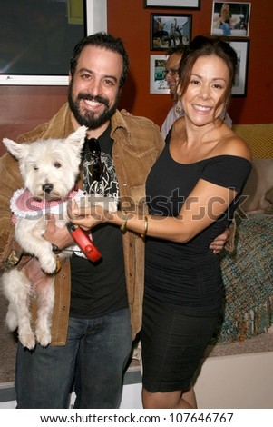 Matteo Ribaudo and Patricia Rey  at the party to celebrate the 100th Episode of 'Dog Whisperer'. Boulevard 3, Hollywood, CA. 09-17-08 - stock photo