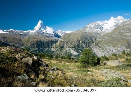 Matterhorn in the Swiss Alps - stock photo