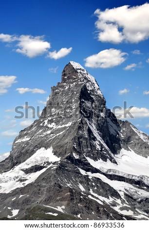 Matterhorn - Swiss alps - stock photo