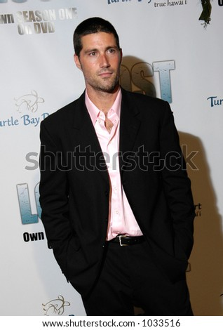 Matthew Fox star of the hit NBC TV show LOST. Filmed on location in Hawaii. - stock photo