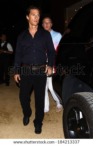 Matthew McConaughey out and about for CANDIDS - Celebrity Night Life, Malibu, Los Angeles, CA April 21, 2009  - stock photo