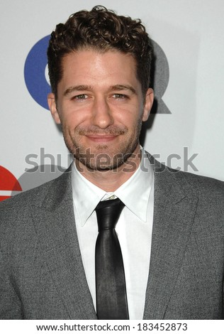 Matthew Morrison at Gentleman's Quarterly GQ Men of the Year Event, Chateau Marmont, Los Angeles, CA November 18, 2009  - stock photo